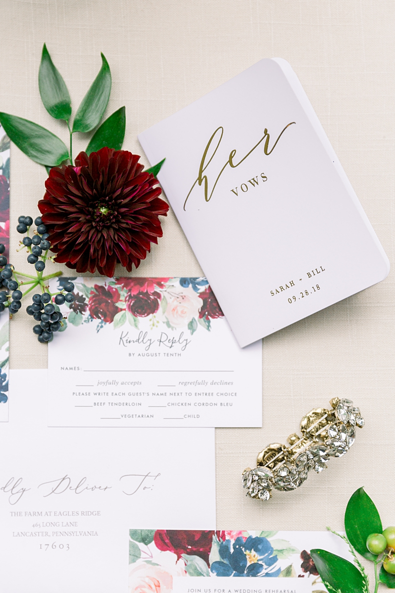 Fall wedding details | lancaster wedding photographer