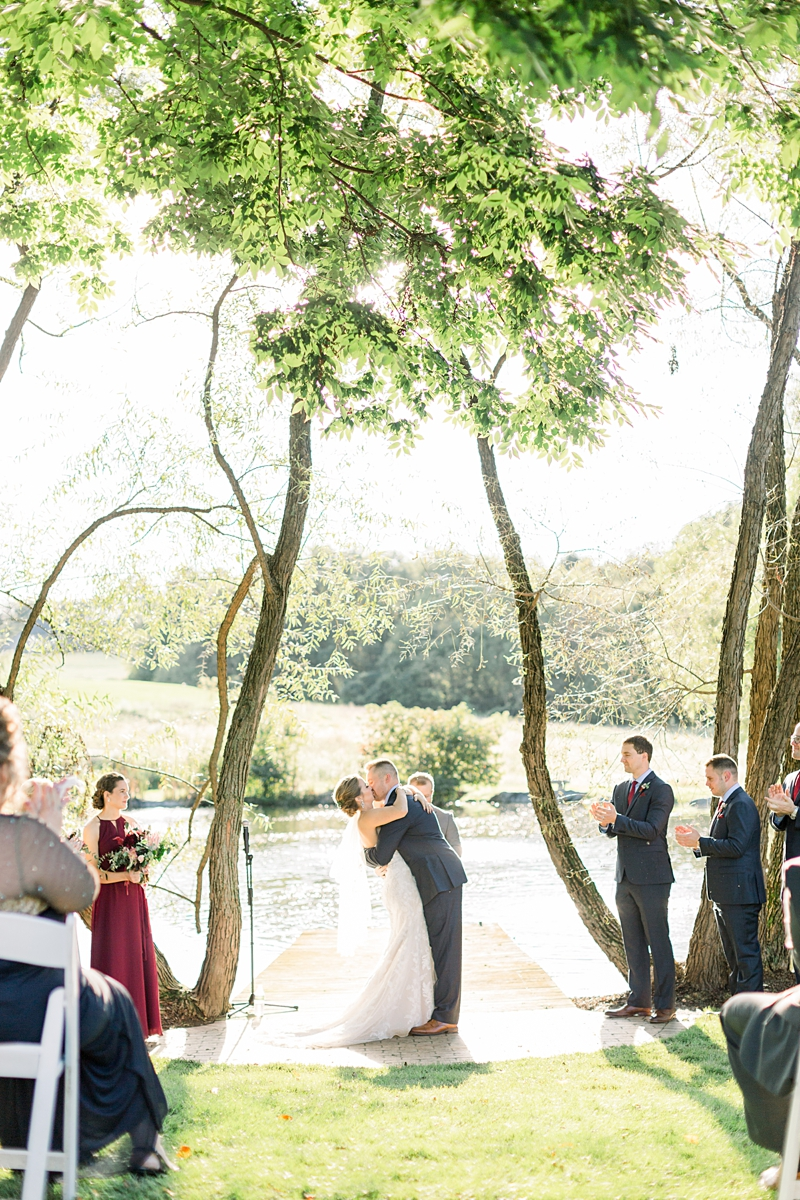 the farm at eagles ridge ceremony | lancaster wedding photographer