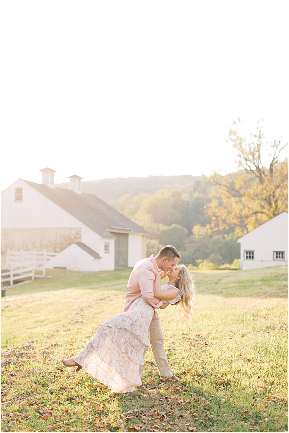 golden hour engagement session at valley forge | sarah canning photography