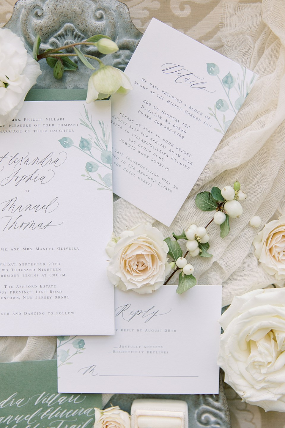 Barely Blush Ink Wedding Invitations | Ashford Estate | Sarah Canning Photography