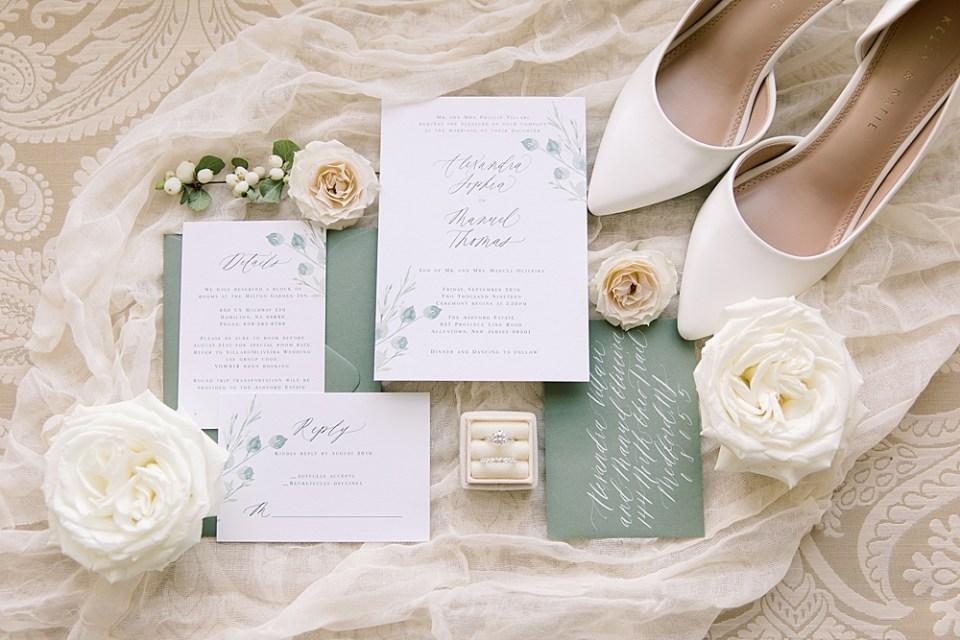 Barely Blush Ink Wedding Invitations   Ashford Estate Wedding Photography   Sarah Canning Photography