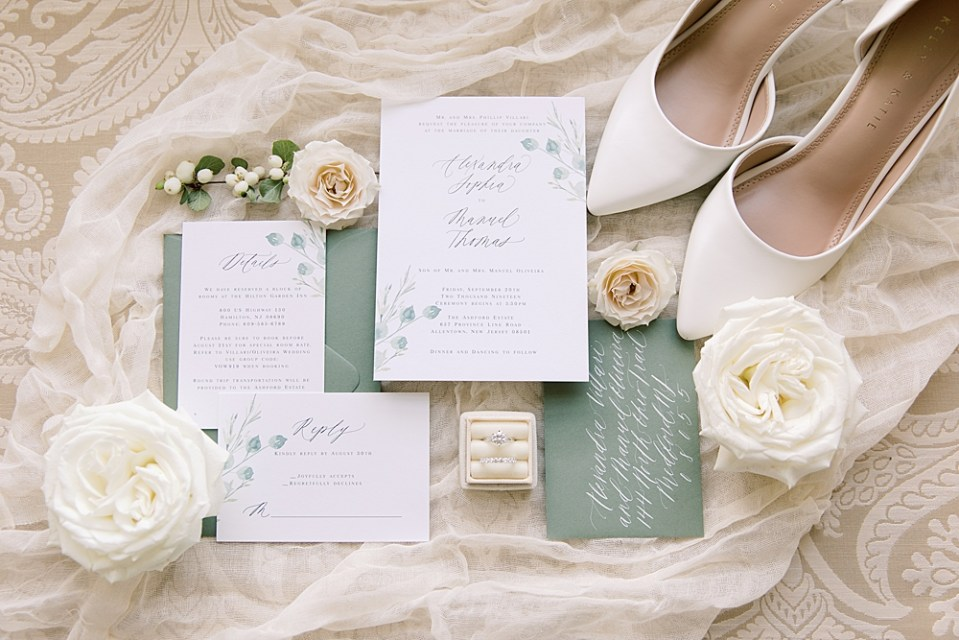 Barely Blush Ink Wedding Invitations | Ashford Estate Wedding Photography | Sarah Canning Photography