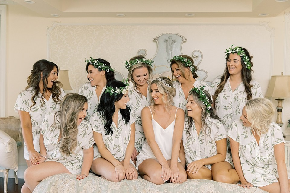 bride and bridesmaids getting ready | Ashford Estate Wedding Photography