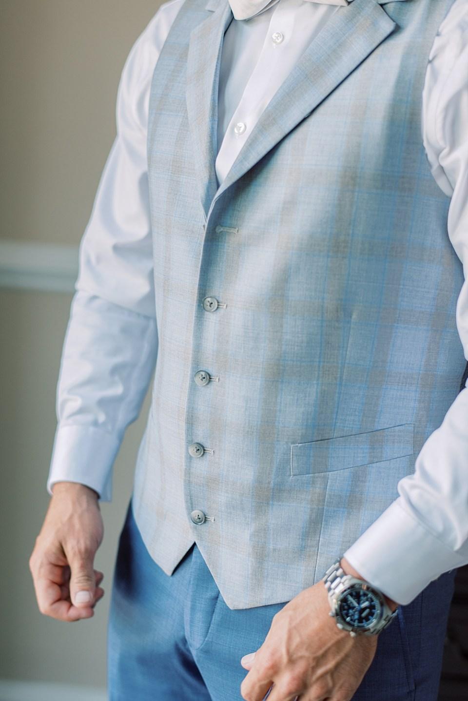 custom blue suit   ashford estate wedding   Sarah Canning Photography