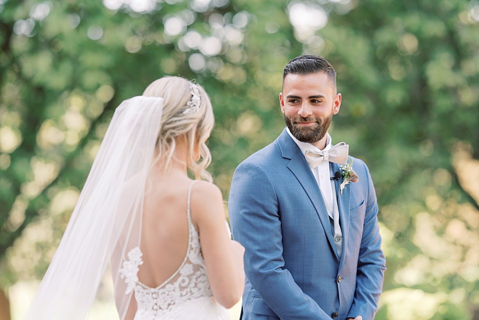 groom seeing bride for the first time | sarah canning photography