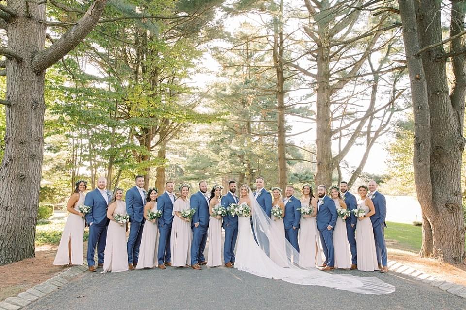 tan and blue wedding colors   ashford estate wedding   new jersey wedding photographer Sarah Canning
