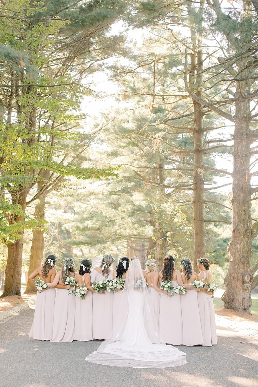 Ashford Estate Wedding Photography   Bride with Bridesmaids   Sarah Canning Photography