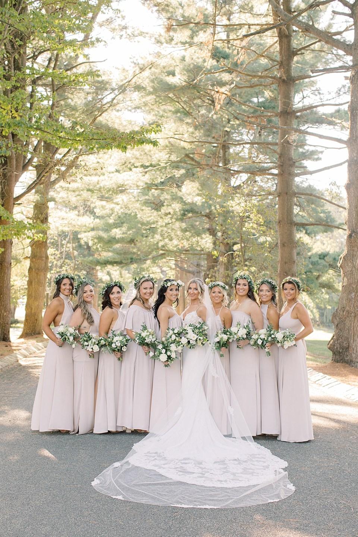 Ashford Estate Wedding Photography | Bride with Bridesmaids | Sarah Canning Photography