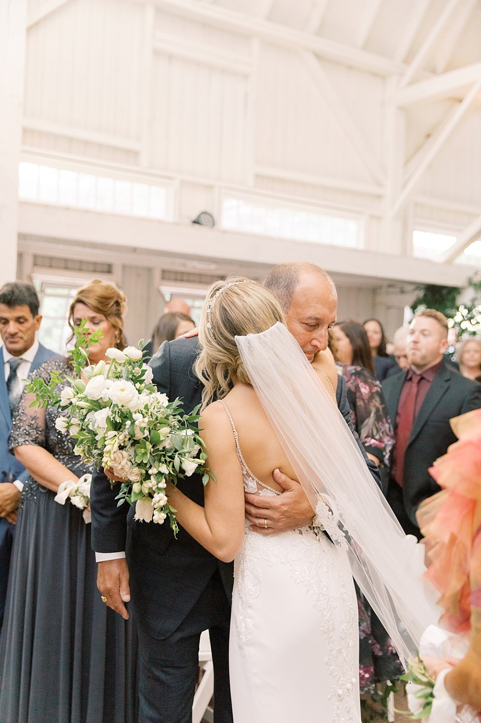 Dad giving daughter away | Ashford Estate wedding ceremony | new jersey wedding photographer sarah canning