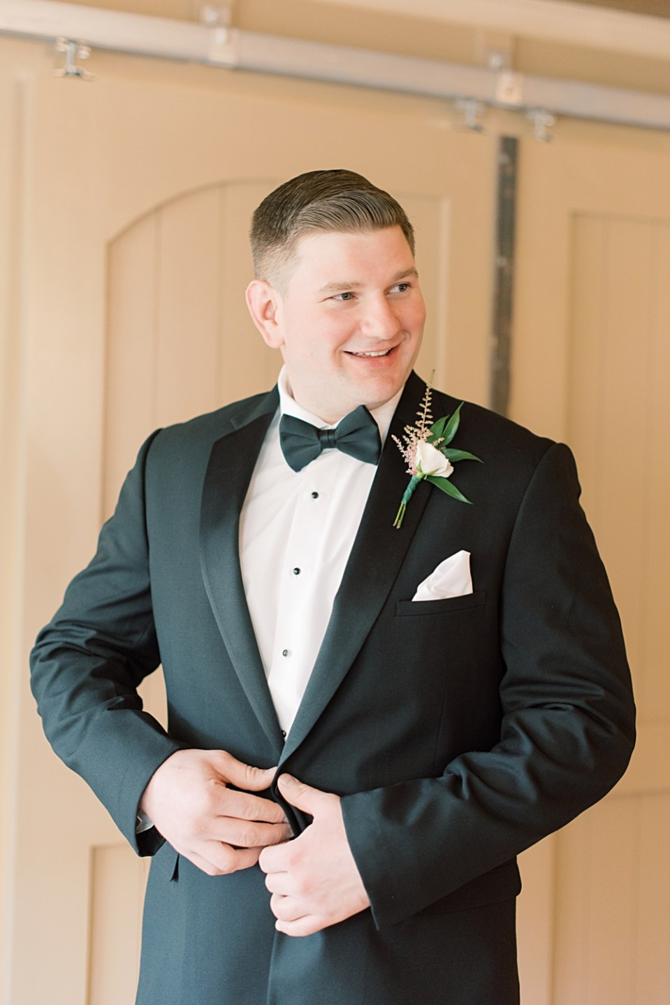 groom getting ready | bear brook valley wedding | sarah canning photography
