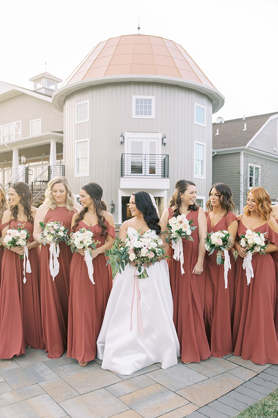dusty rose bridesmaids dresses by bella bridesmaids | Jenny Yoo | Wedding photographer sarah canning