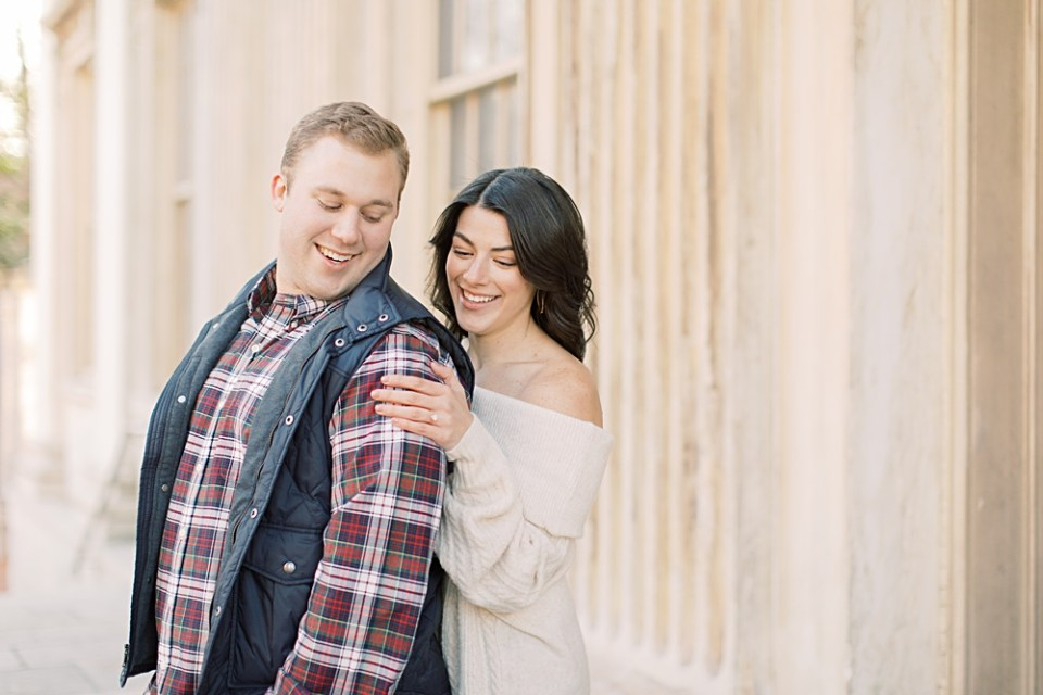 Old City Philadelphia Engagement Session | second bank of the united states