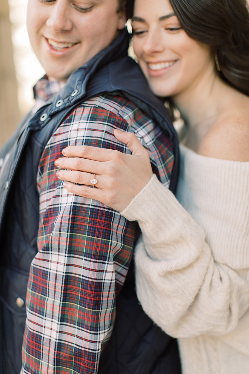 Oval cut engagement ring | Philadelphia Wedding Photographer Sarah Canning