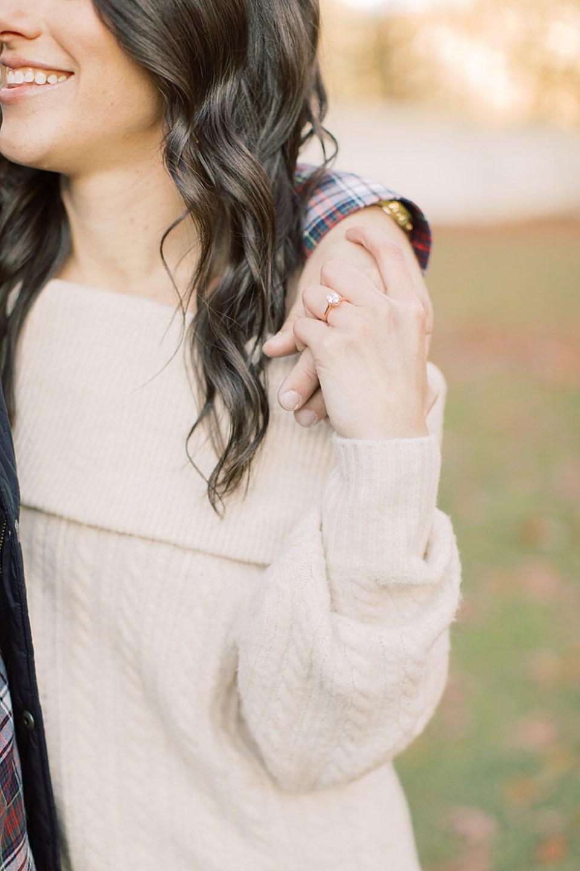 Oval cut engagement ring | Philadelphia Wedding Photographer | Sarah Canning