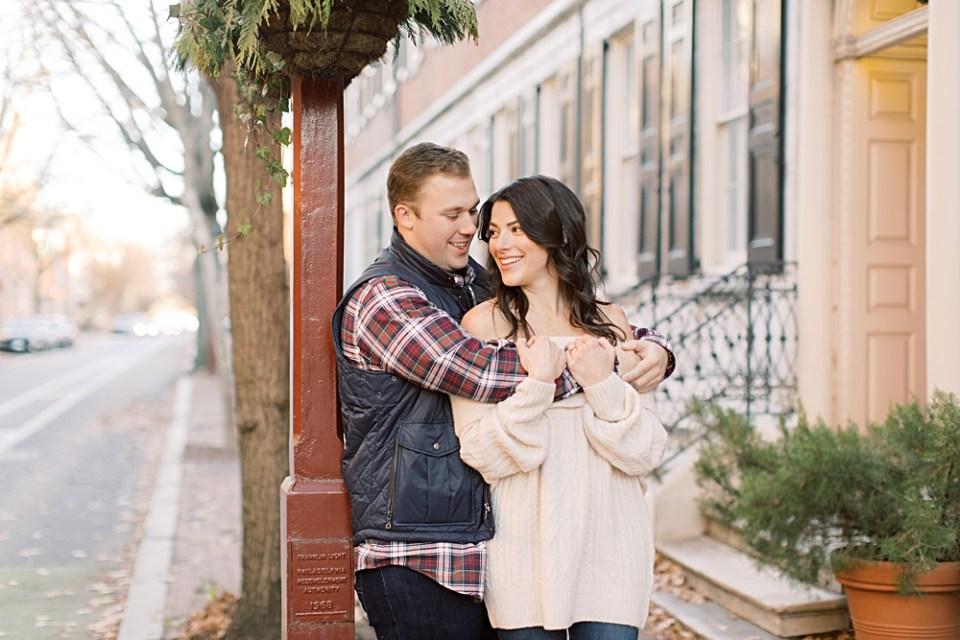 Old City Winter Engagement Photos | Philadelphia Wedding Photographer Sarah Canning