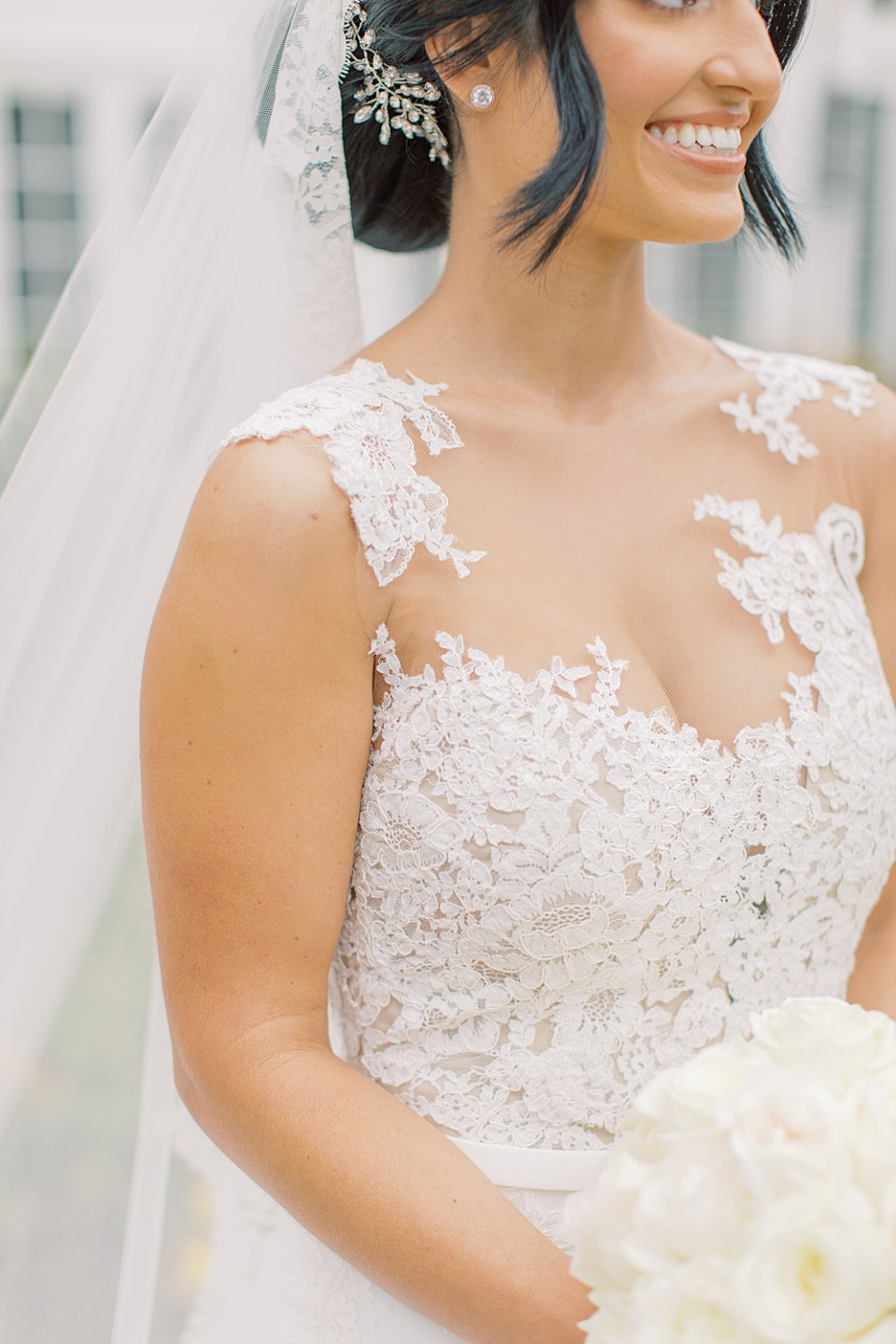 lace gown details | sarah canning photography