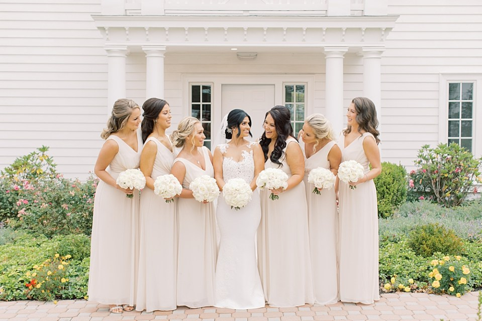 bride with bridesmaids | the ryland inn | new jersey wedding photographer sarah canning