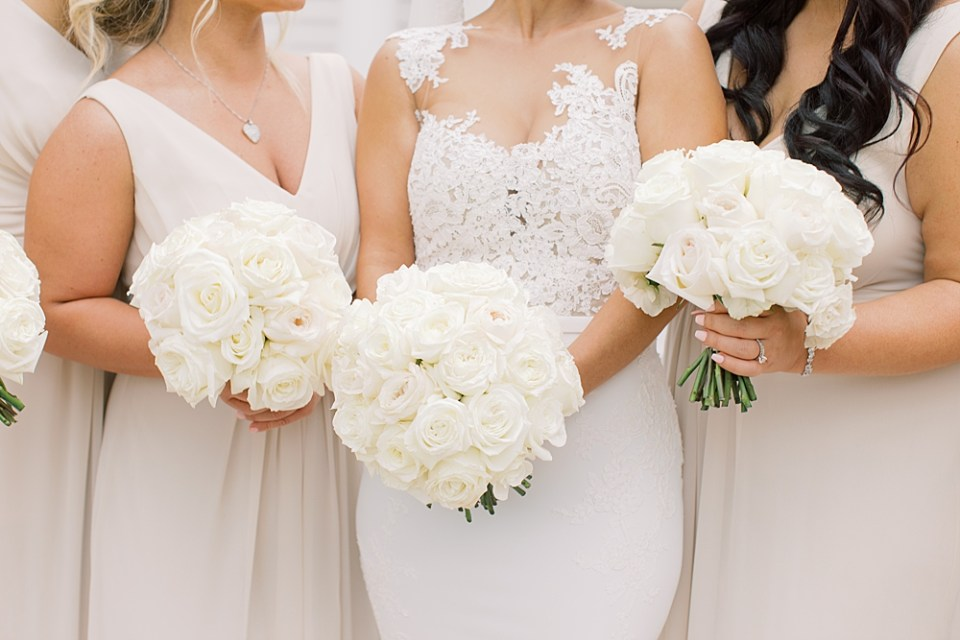 all white rose bouquet | twisted willow flowers | sarah canning photography