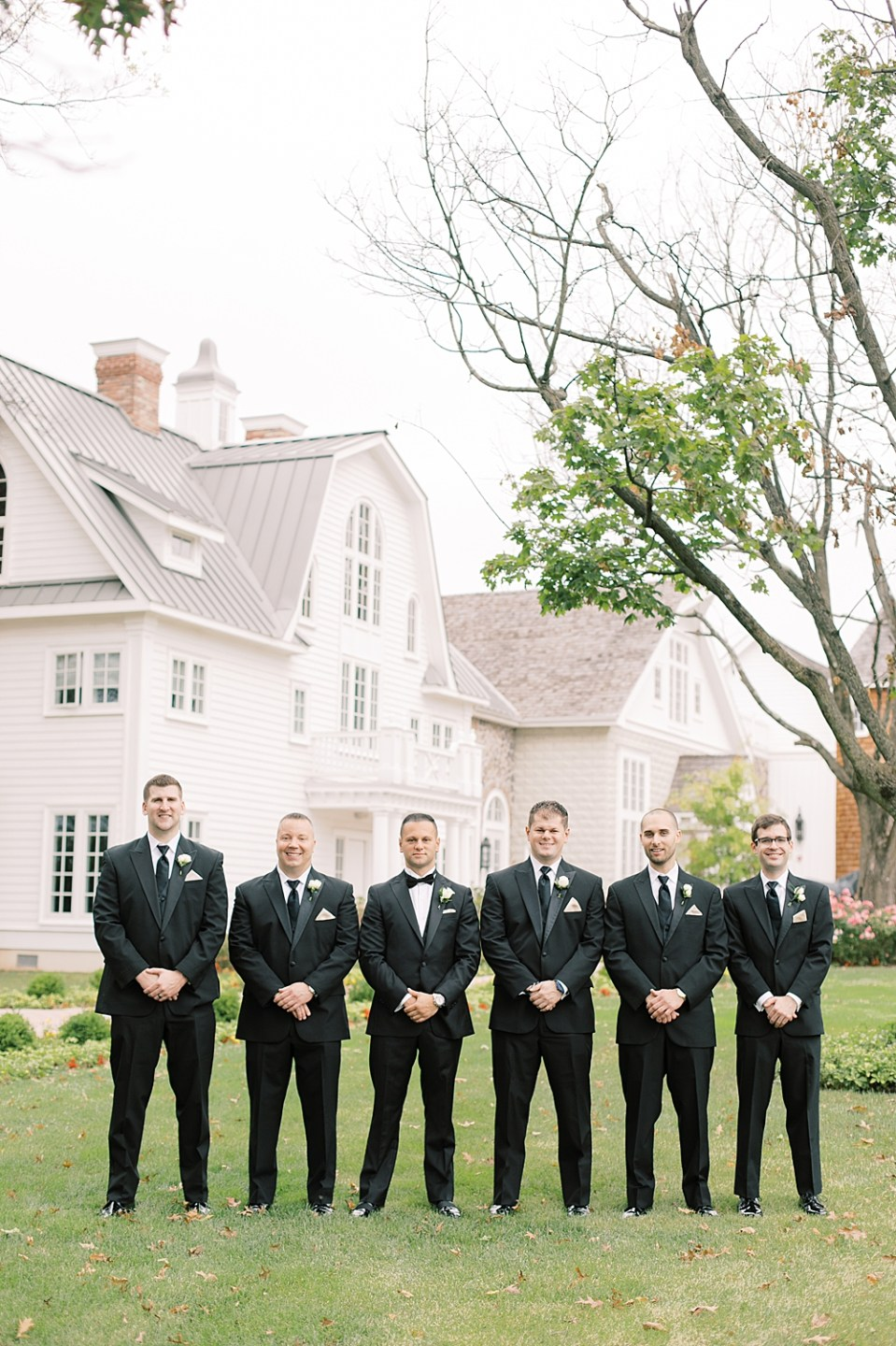 groom with groomsmen | the ryland inn | new jersey wedding photographer sarah canning