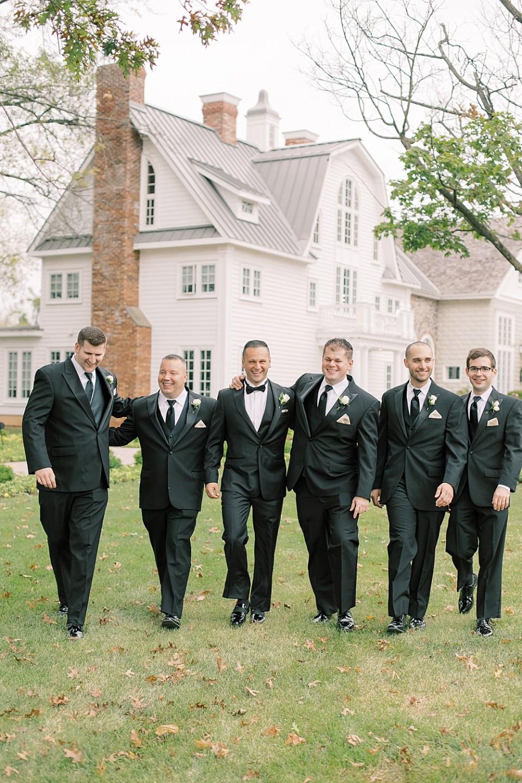 classic black tie groomsmen | ryland inn wedding | sarah canning photography