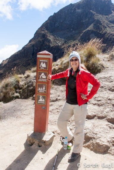 Me (proud) on the highest point of the trail. Dead Womans Pass. At 4210m about sea level.