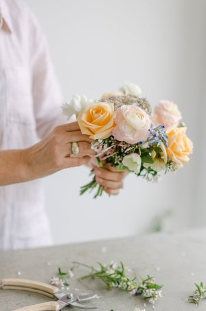 image of florist taken during business photo shoot by Auckland brand photographer Sarah Clayton