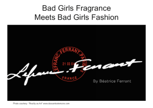 NO EDGE Bad Girls Fragrance Meets Bad Girls Fashion