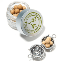 Fragrance beads and open charm
