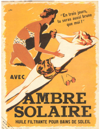 Ambre Solaire pub 1936