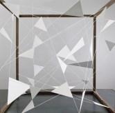 Perspectives, 2011_106 x 160 x 160 cm_Iron, plexiglas, polyester thread, carbon fibers, color, software. © Photo Andrea Messana
