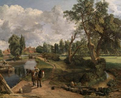 Flatford Mill ('Scene on a Navigable River') 1816-17 John Constable 1776-1837 Bequeathed by Miss Isabel Constable as the gift of Maria Louisa, Isabel and Lionel Bicknell Constable 1888 http://www.tate.org.uk/art/work/N01273