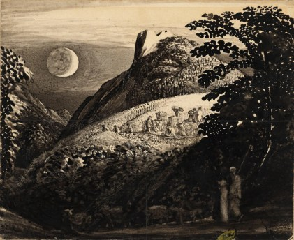 The Harvest Moon: Drawing for 'A Pastoral Scene' c.1831-2 Samuel Palmer 1805-1881 Purchased 1922 http://www.tate.org.uk/art/work/N03699