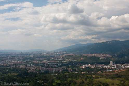 Bucaramanga from the sky.
