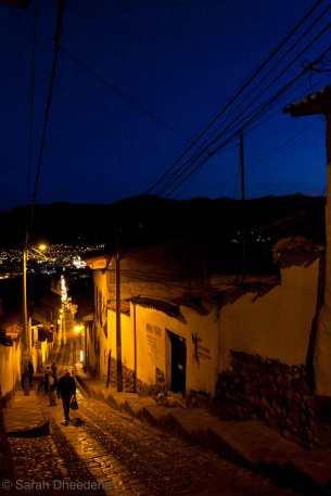 Cusco by night.