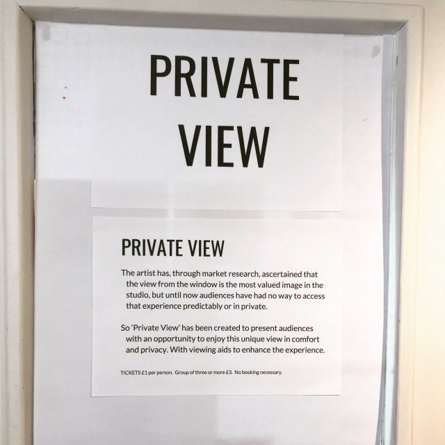 Private View: An Installation of a Landscape