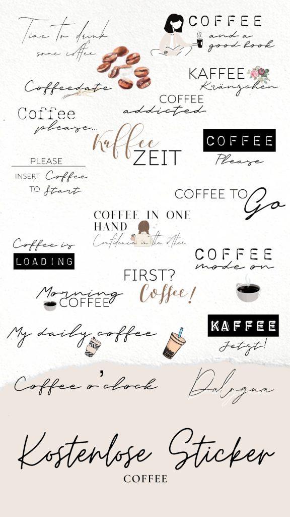 kostenlose story sticker coffee, kaffee