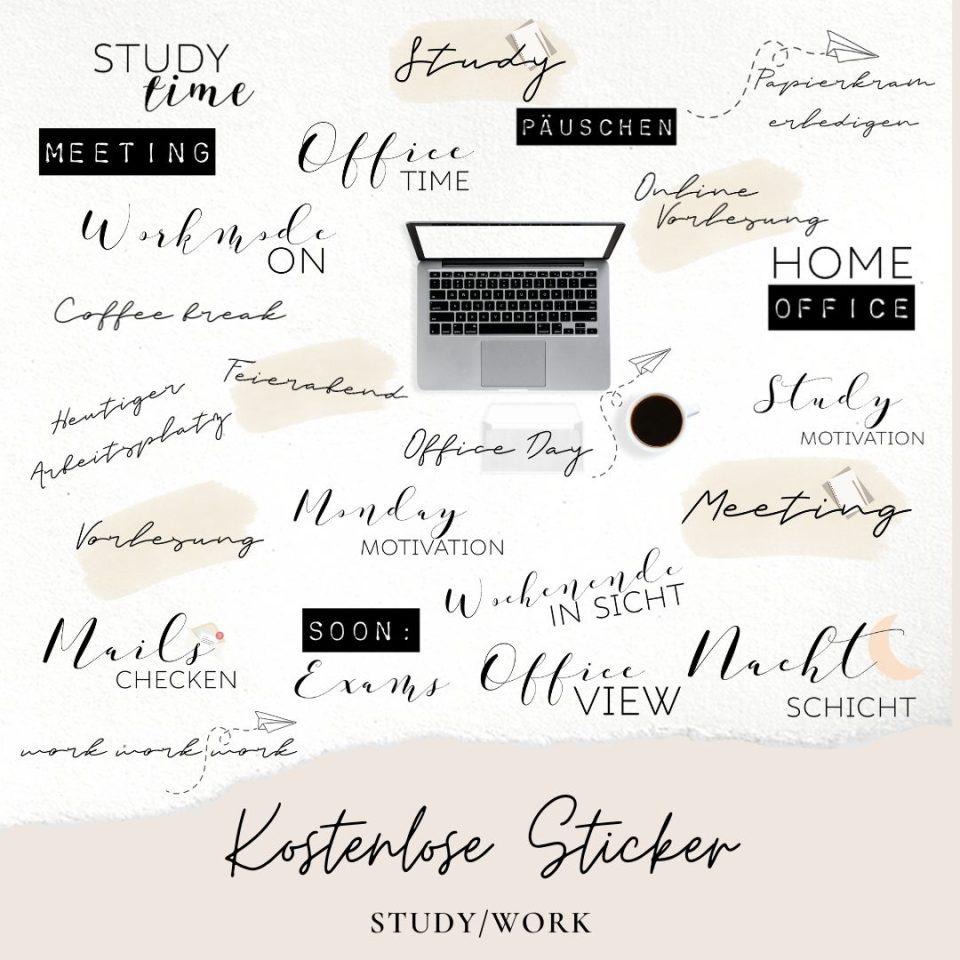 kostenlose story sticker zum thema Arbeit/Work und Studium/Study