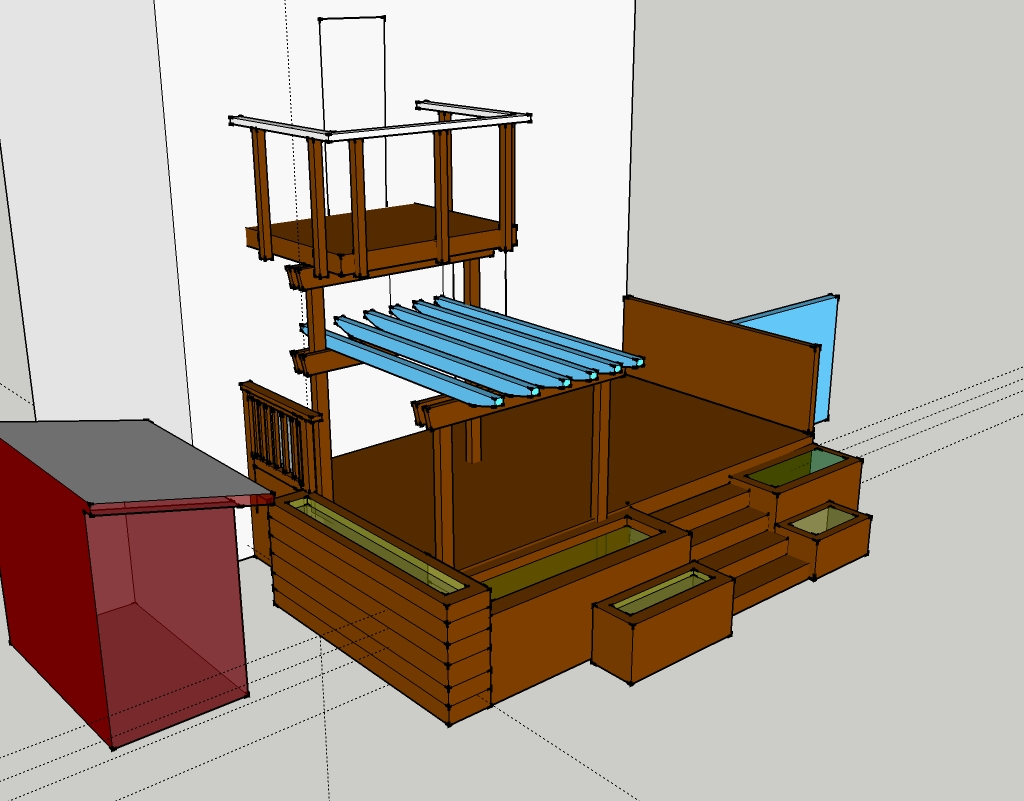 hight resolution of sketchup model of the multi layered landscape design
