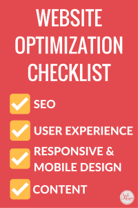 Website Optimization Checklist and Resource Guide