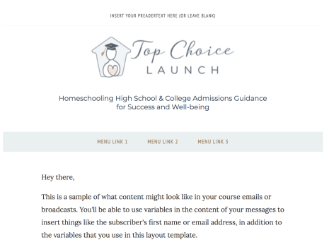 Top Choice Launch Soft Pastels Template