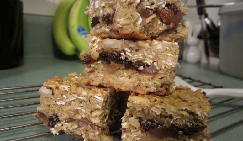 Fruit and Nut Granola Workout Bars with Dates (Gluten-free)