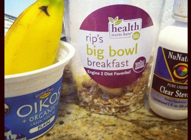Rip's big bowl breakfast with Greek Yogurt