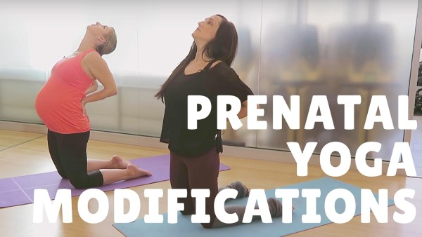 prenatal yoga modifications