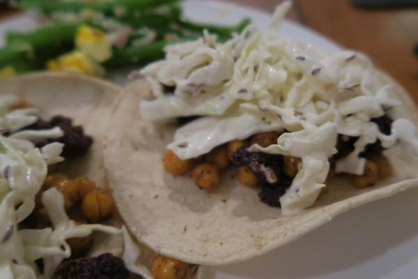 BBQ Cauliflower Chickpea Tacos