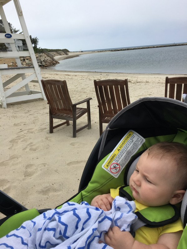 Jogging Stroller Chicco Tre on Beach