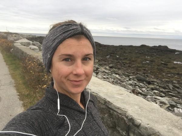sarah fit running peaks island