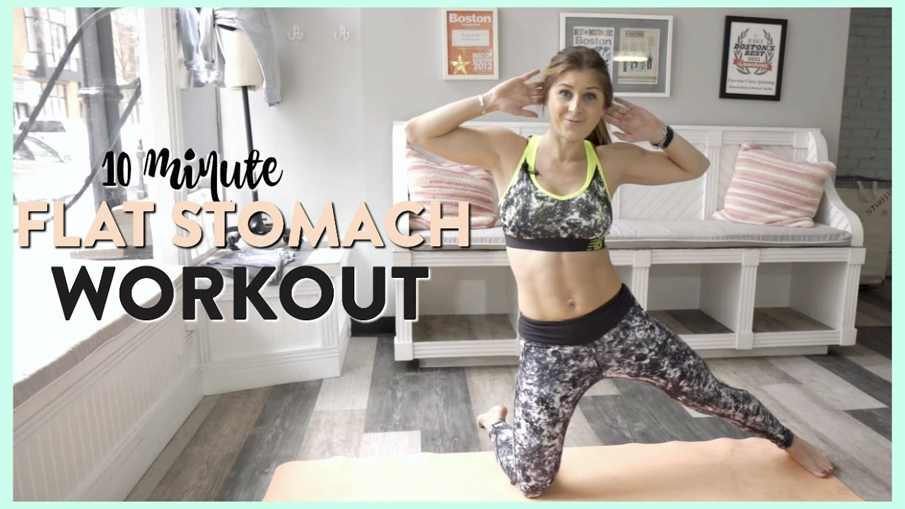 10 Minute Ab Workout For A Flat Stomach   Video