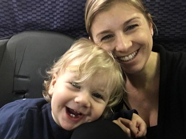 Sarah Tommy Plane Flying Toddler Tips