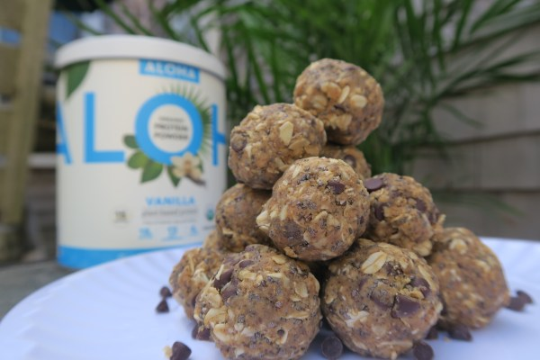 simple gluten free protein energy bites ALOHA