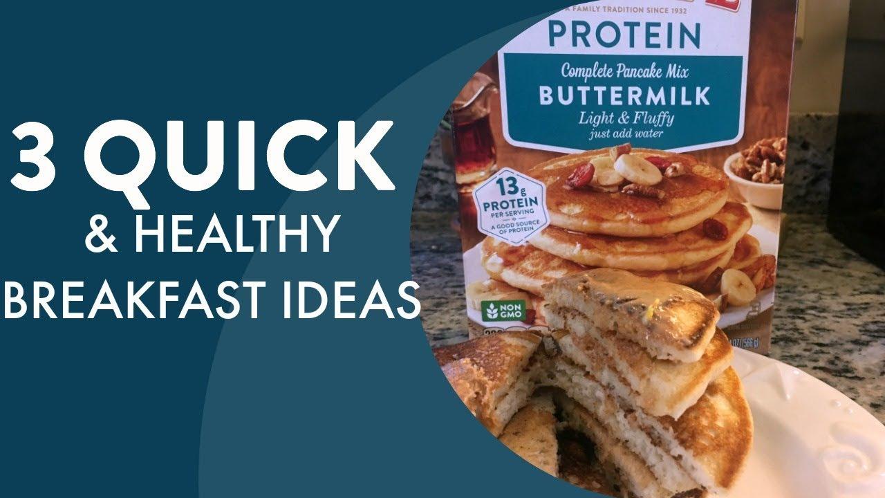 3 Actually Quick, Easy + Healthy Breakfasts | Video